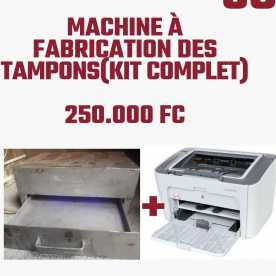 Machine à fabrication des tampons ( Kit complet + formation)